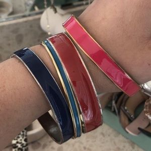 Kate Spade colorful bracelets.